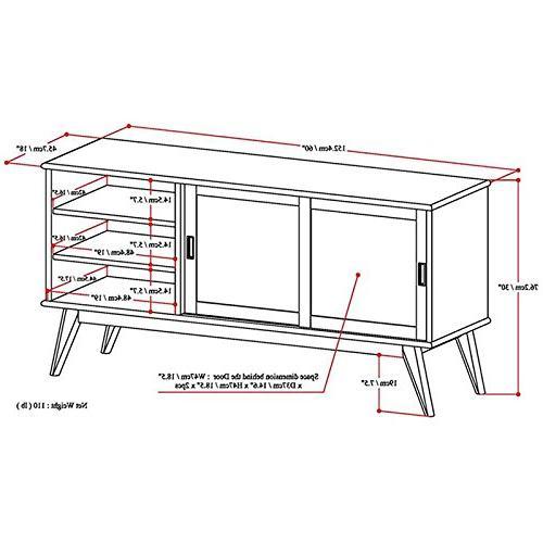 Simpli Home 3AXCDRP-08-TK Solid Medium Media in Teak TVs