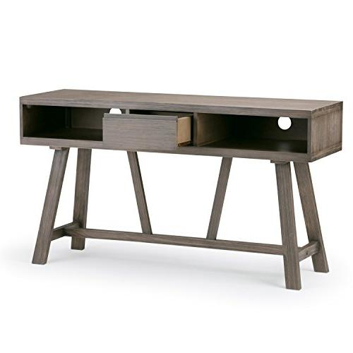 Simpli Home Solid Wood TV Stand TVs inches
