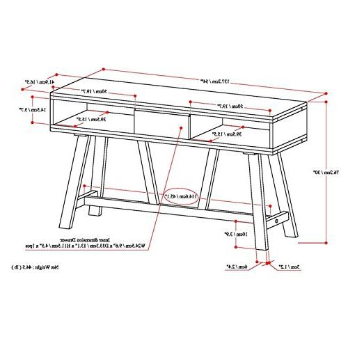 Simpli Home Solid Wood TV Media Stand Driftwood For TVs