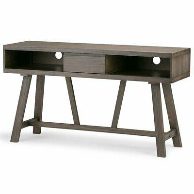 Simpli Home 3AXCDLN-06 Dylan Solid Wood TV Media Stand in Dr