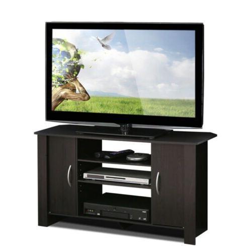 Furinno Econ Espresso TV Stand Entertainment Center TVs