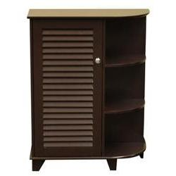 Ellsworth Floor Cabinet with Door and Side Shelves - Color: