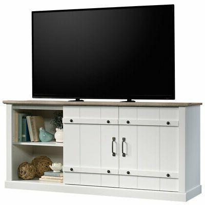 Sauder Engineered Wood TV Stand To in Soft White
