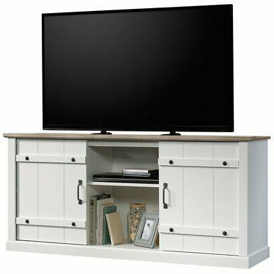 """Sauder Wood TV To 70"""" in Soft White"""