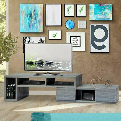 Entertainment Center with Drawers, TV's Up to in Grey