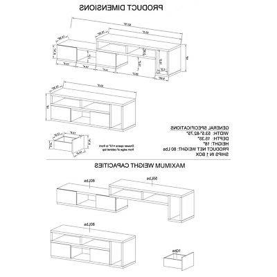 Entertainment with Drawers, in Grey