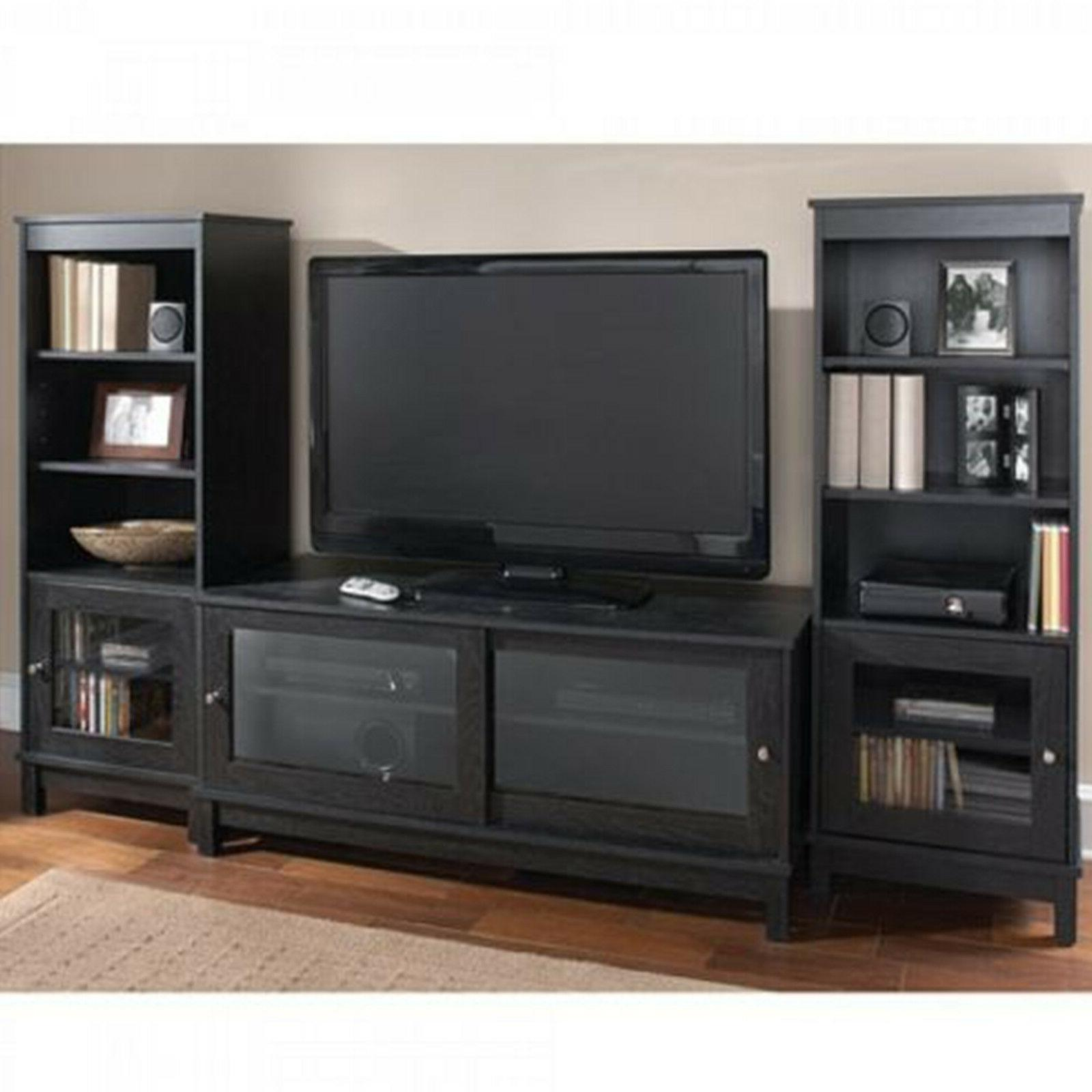 Entertainment Center TV Media Cabinet Wood Shelf Modern