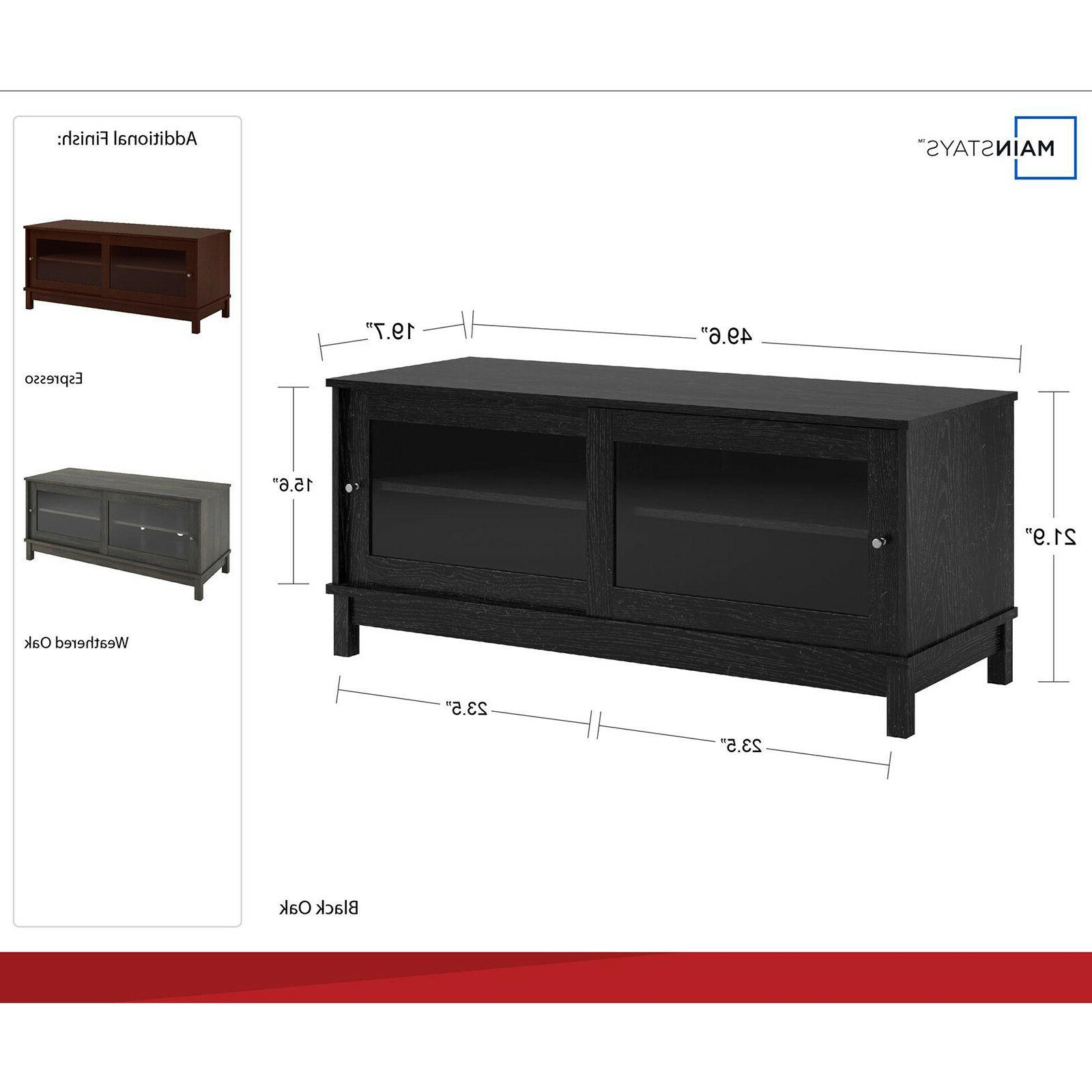 Entertainment Cabinet Wood Shelf Contemporary