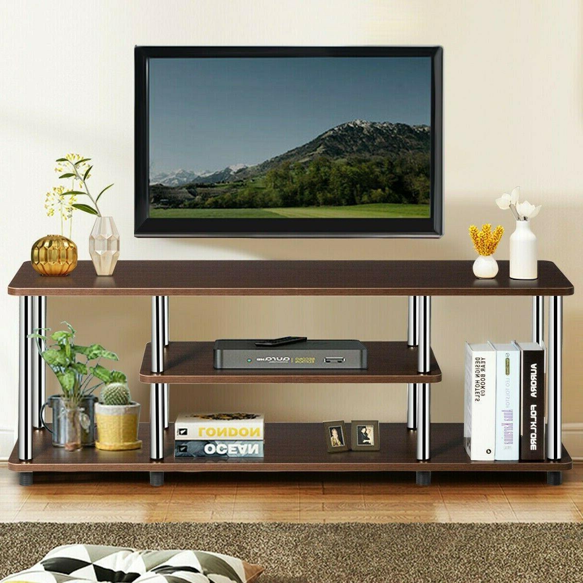 Entertainment Center TV Stand Media Cabinet Table Rack Shelv