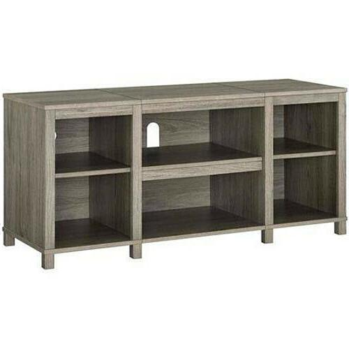 Entertainment Stand, up 50 TV, Light Wood Finish