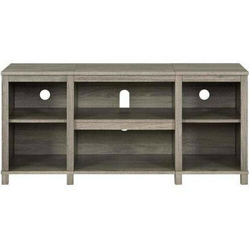 Entertainment Cubby TV up to TV, Oak Finish