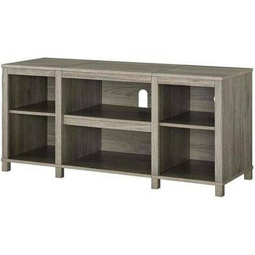 Entertainment Cubby TV Stand, up inch TV, Oak Finish Furniture