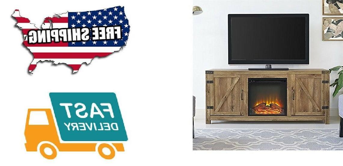 fireplace tv stand barnwood