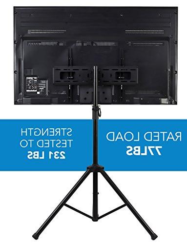 Mount-It! Panel TV Portable Stand LCD LED 32-70 inch, Pole, Supports 77 600x400 Black,