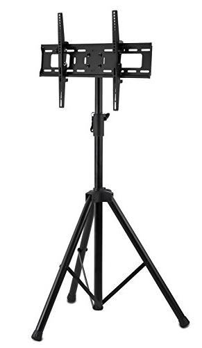Mount-It! LCD TV Stand Fits Flat 32-70 Height Pole, up to 77 lbs 600x400 ,