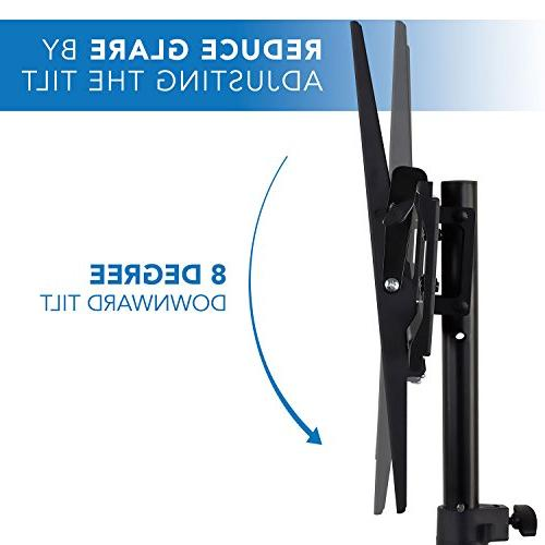Mount-It! Flat Stand Fits LCD LED Flat TV 32-70 Adjustable Height Pole, Supports 77 VESA 600x400