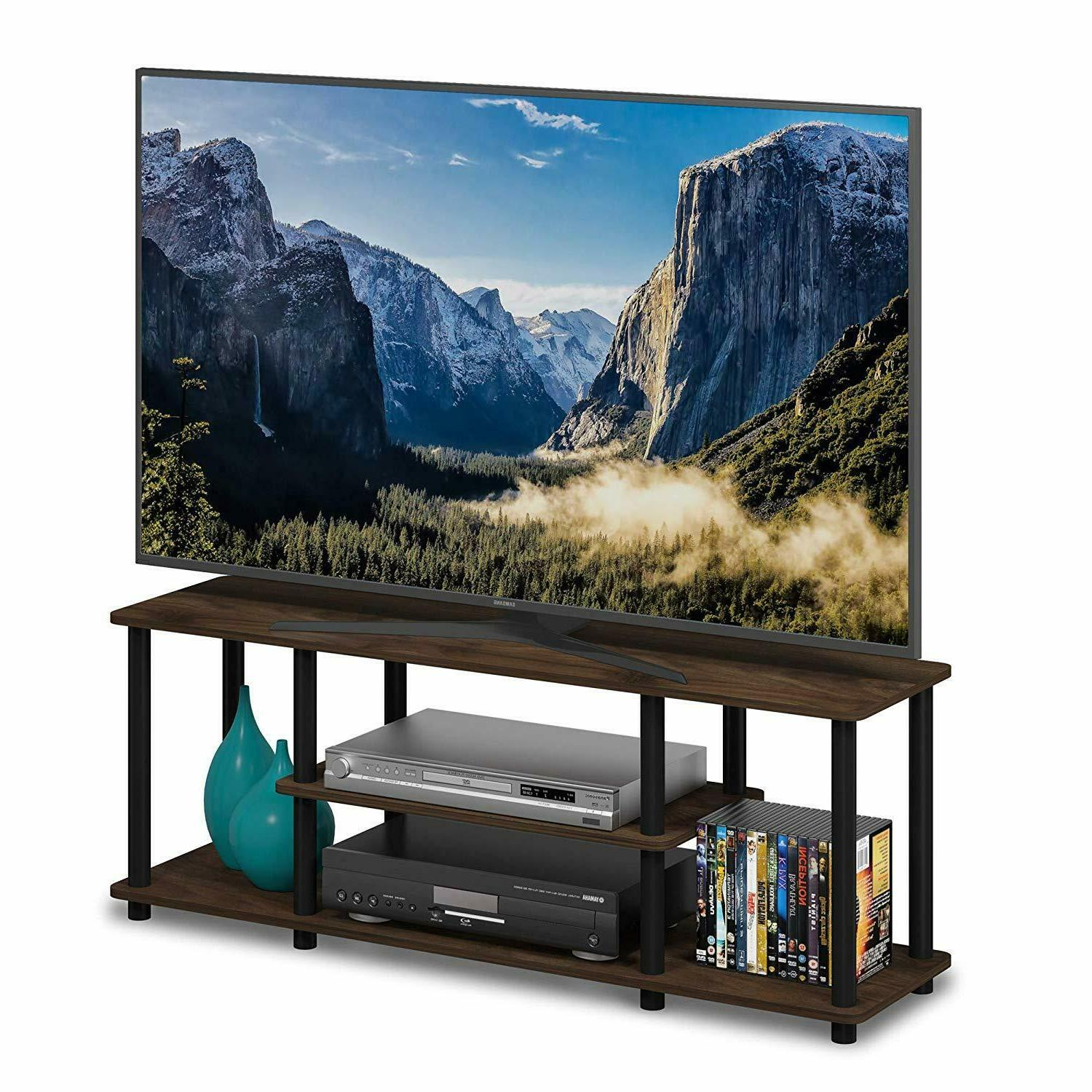 "FLAT SCREEN TV STAND HOLD Up to 55"" or 60 Lbs LARGE Entertai"
