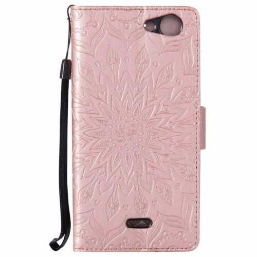 Flip Leather w/Strap Cover For Asus Phones