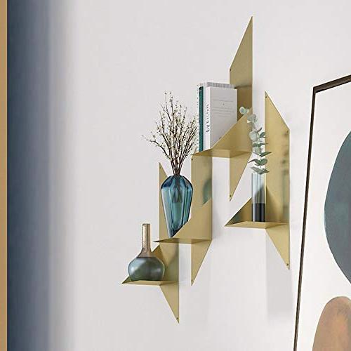 Axdwfd Shelves Shelf, Iron Art Mount Bookshelf Living Decor Stand Modern 6627in