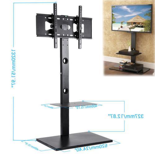 """Floor TV Stand with Tilt & Swivel Mount Bracket for 32""""-65 F"""