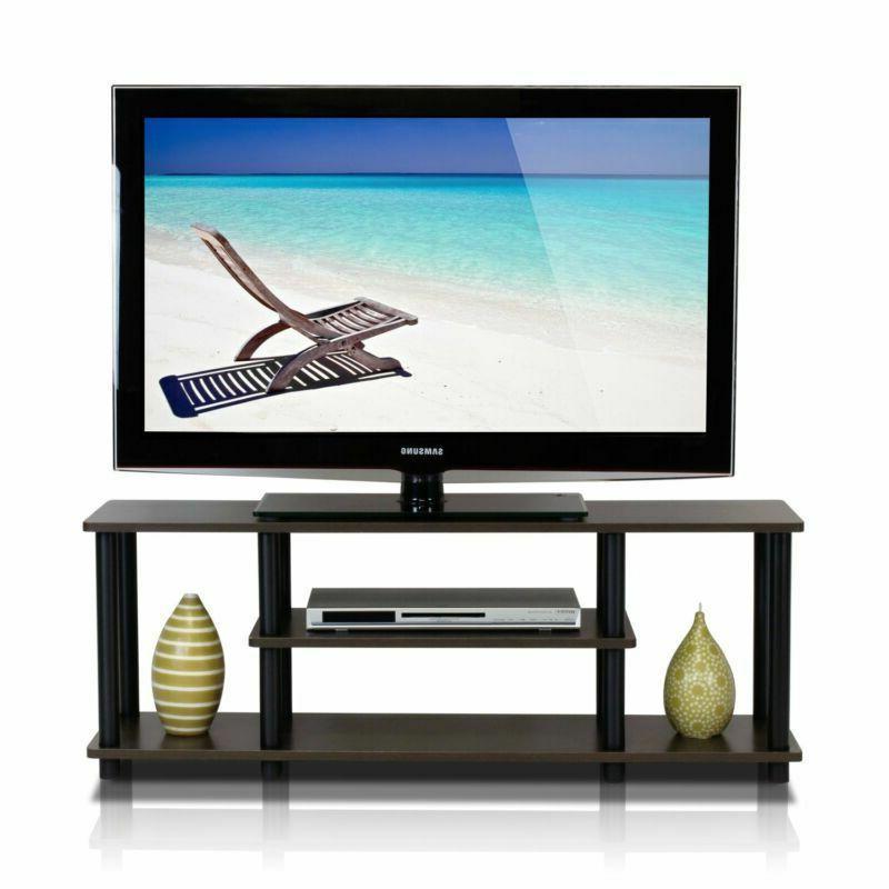 Furinno 12250R1DBR/BK Tools 3-Tier TV