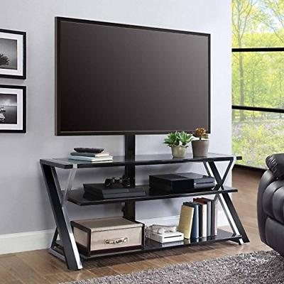 "Whalen Furniture 3-in-1 Tv Stand for Tvs up to 70""  Black/Si"