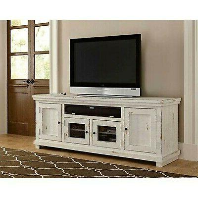 "Progressive Furniture Willow 74"" Console, Distressed White"