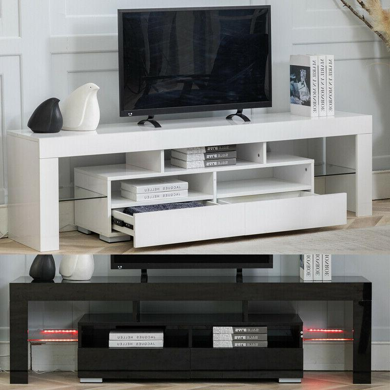 "63"" Stand Cabinet Modern w/LED Furniture"