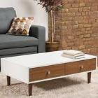 Baxton Studio Gemini Wood Contemporary Coffee Table, White,