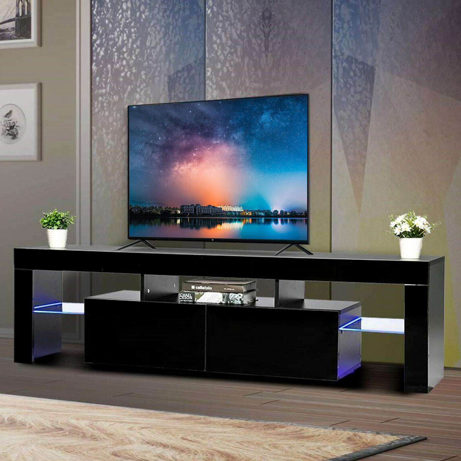 gloss black tv stand unit