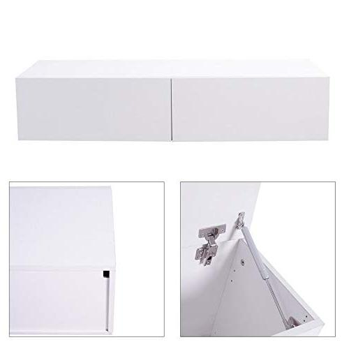 TV Modern Console Entertainment 2 Cabinet White