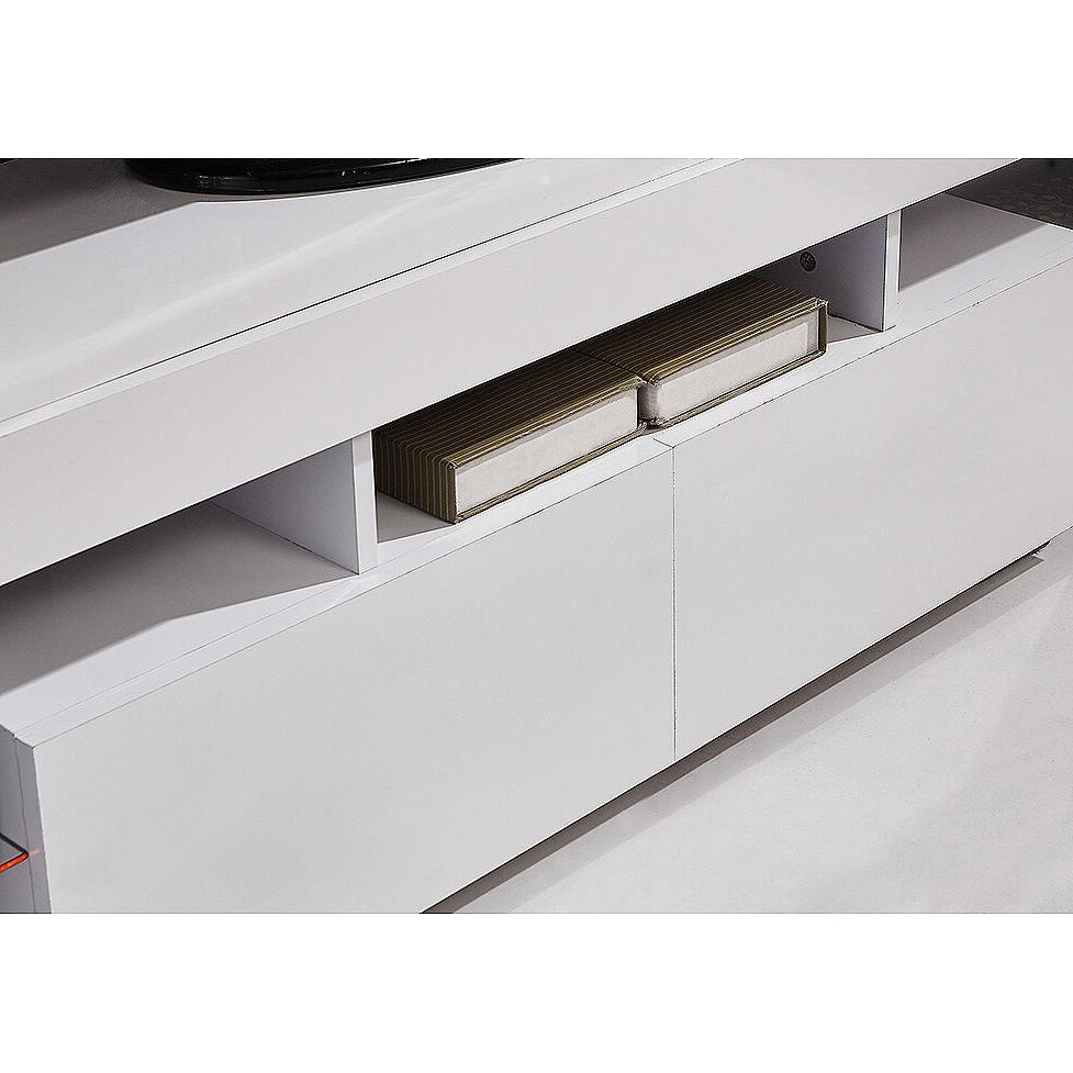 Stand Unit Cabinet LED Light 2 Drawers Console Table RC