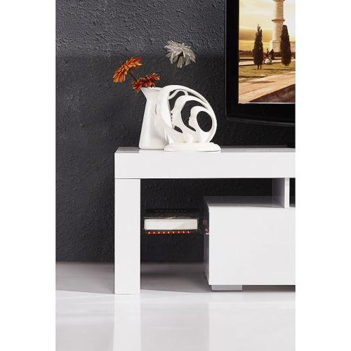 High Gloss TV with Drawers Console