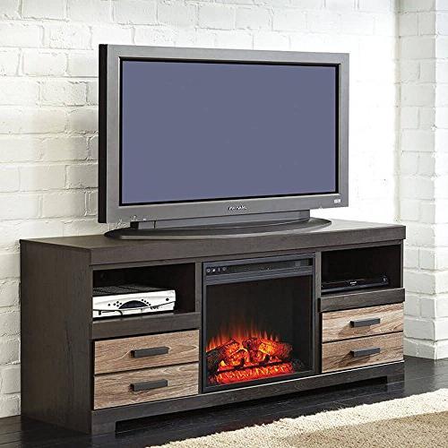 Harlinton Warm TV Stand w Option