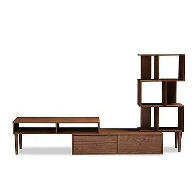 Haversham Mid-century Retro TV Stand Entertainment Center an