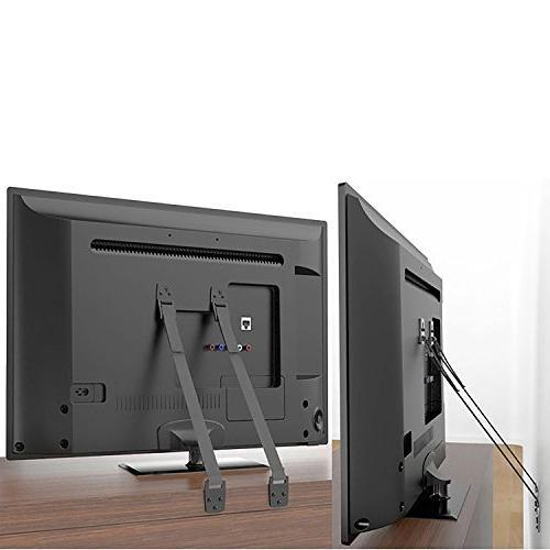 WALI TV Heavy Duty Fit Flat TVs and 1 Black