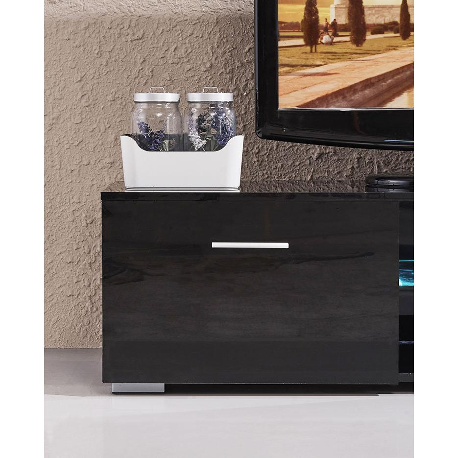 63'' High TV Stand Console Furniture Drawers LED Shelves