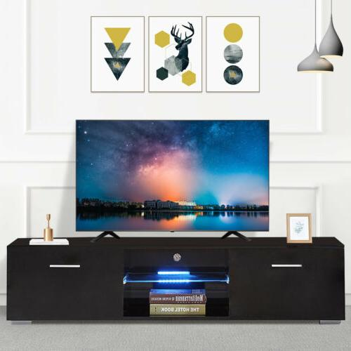 high gloss 63 black led tv stand