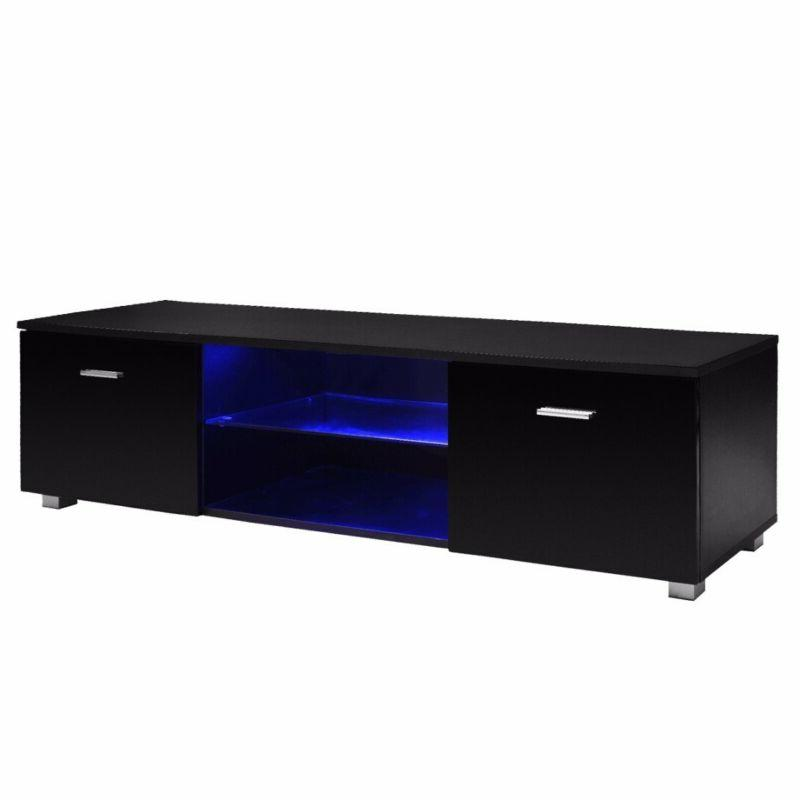 High Gloss TV Stand Unit Cabinet Console Furniture LED Shelv
