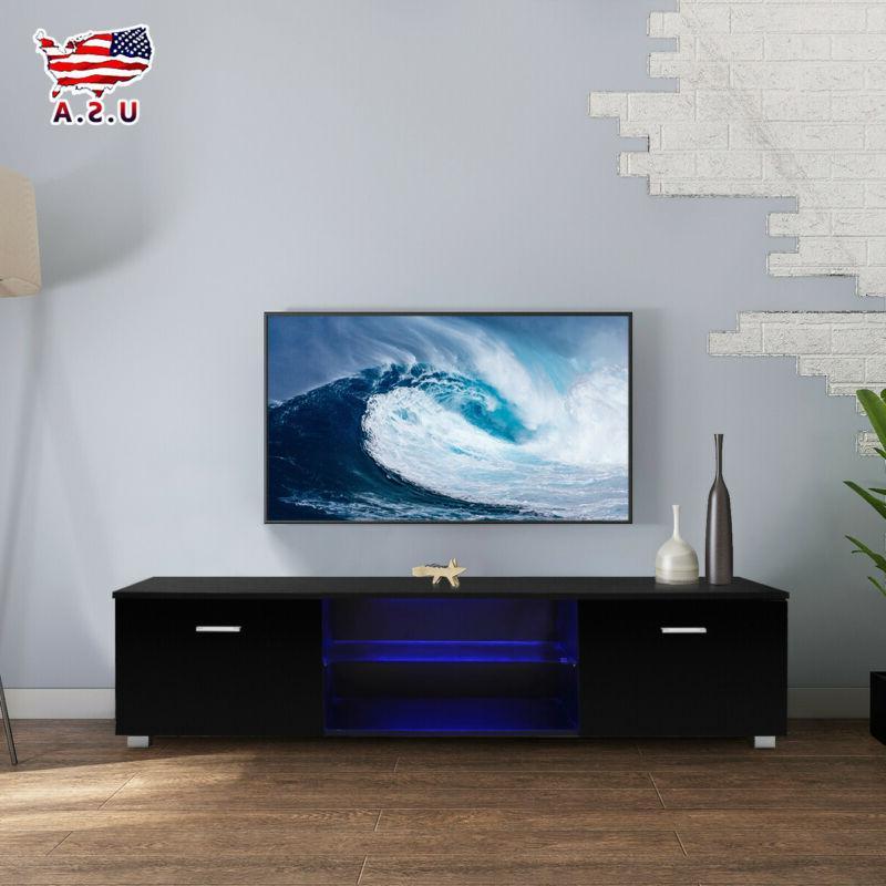 high gloss black led shelves tv stand