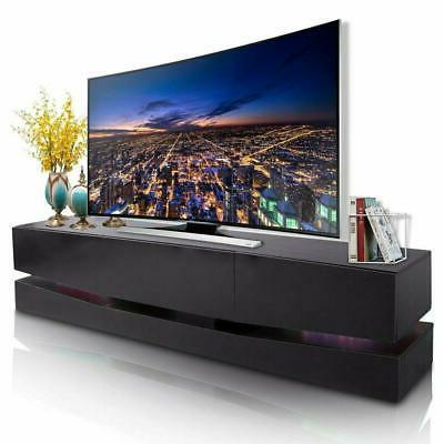 Floating Wall Mout High Gloss Modern TV Stand Cabinet LED Li
