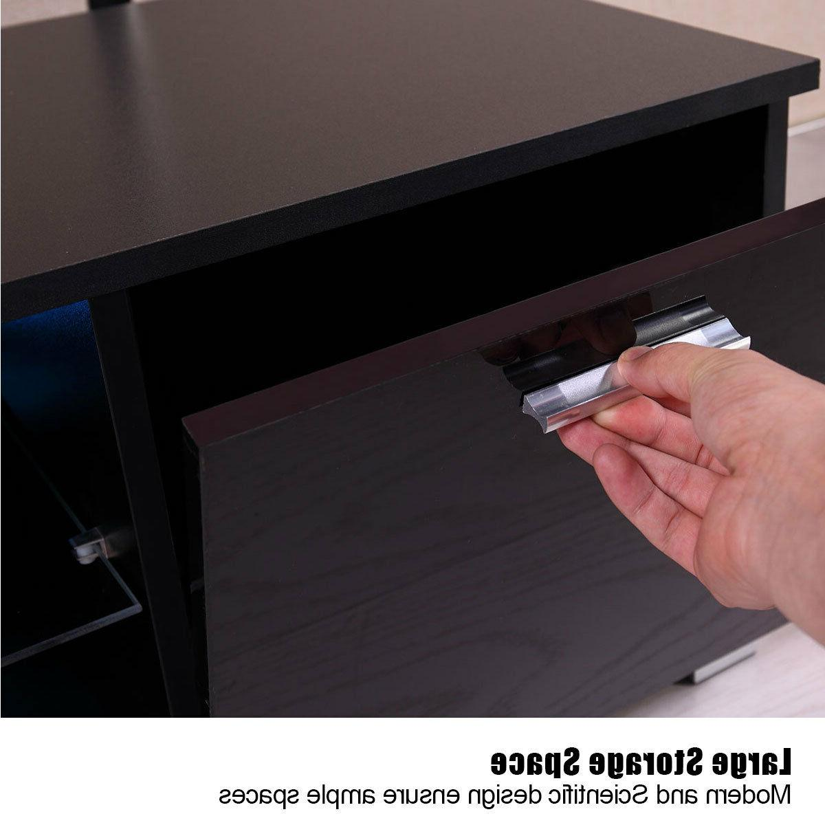Cabinet LED Shelve White/Black
