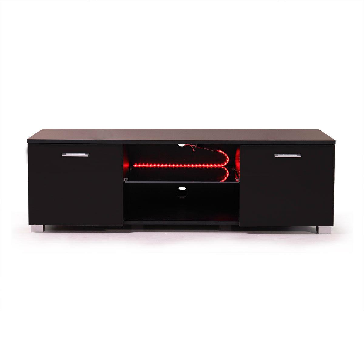 High Gloss TV Stand Cabinet with Shelve White/Black Drawer