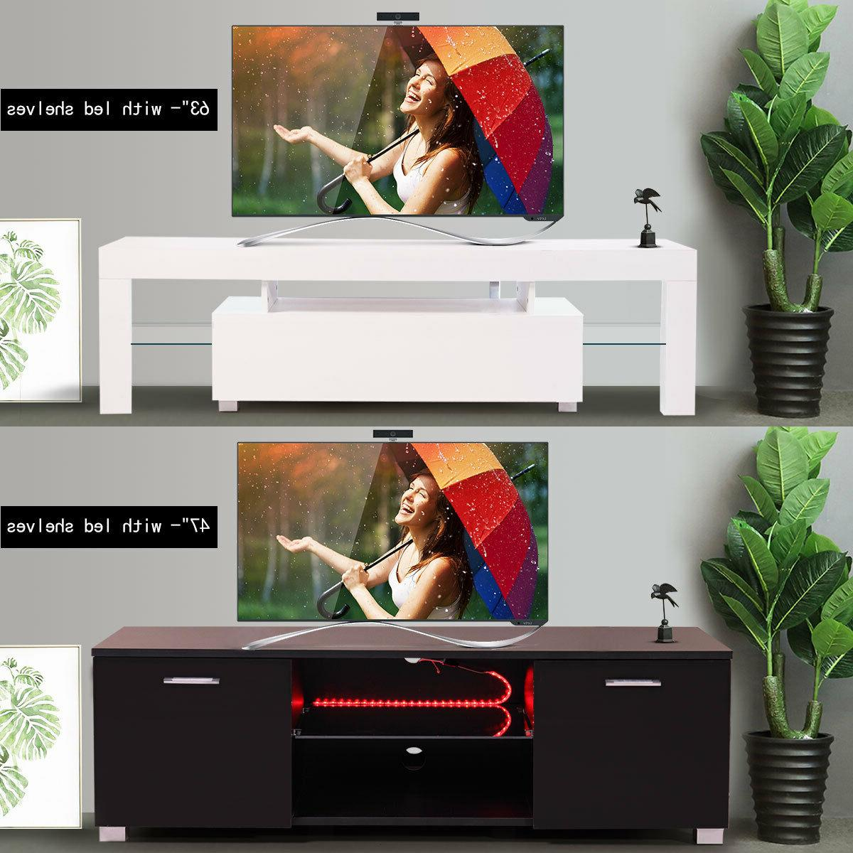 high gloss tv stand cabinet with led