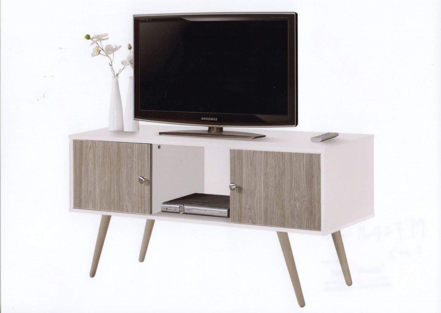 hodedah retro style tv stand with two