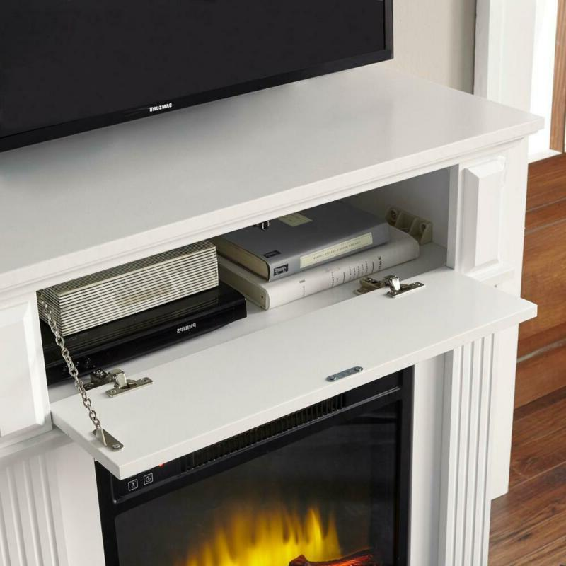Infrared Electric Fireplace 31 in Warm 1000 SqFt Stand