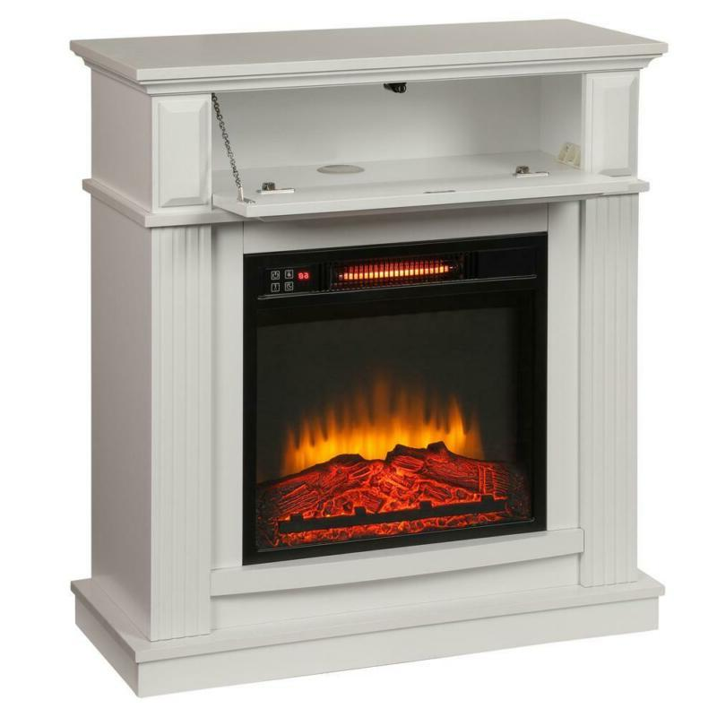 infrared electric fireplace 31 in freestand compact