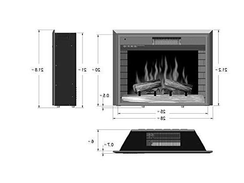 """Newfield 28"""" Electric Fireplace Temperature & Flame;Automatically Delay Turn"""