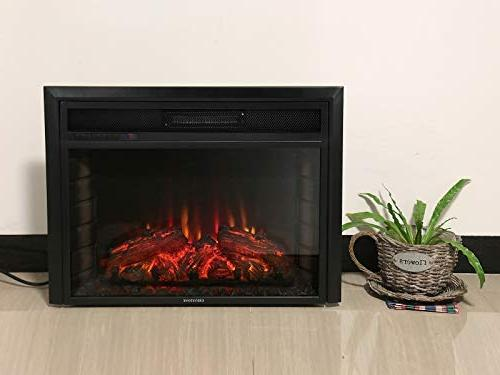 """Newfield 28"""" Insert Electric Fireplace Flame;Automatically Delay Turn Off;Logs Heater"""