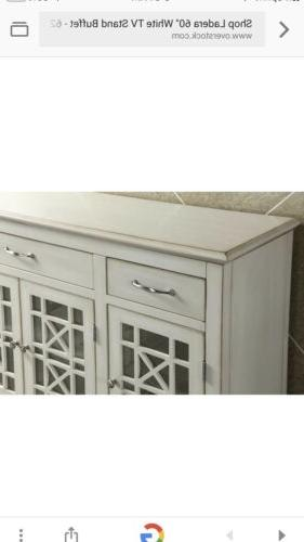 "Ladera 60"" White Stand Buffet inches"